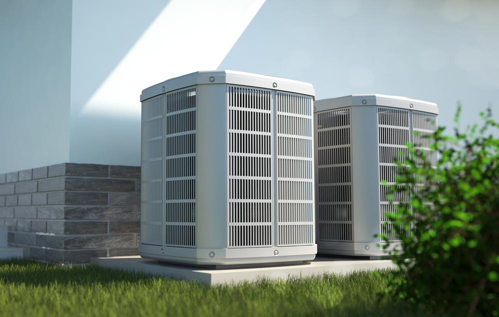 CAM Heating & Cooling   Etowah, NC   residential heating and air units outside a home